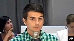 Le présumé pirate informatique russe, Stanislav Lisov, lors d'une audience dans un tribunal, à Madrid, Espagne, 20 juillet 2017.