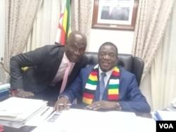 Believe Gaule with President Emmerson Mnangagwa