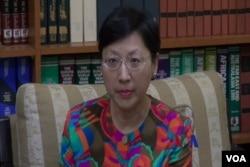 台灣外交部發言人高安接受美國之音訪問。(視頻截圖)