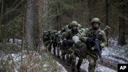 Литовські військові на навчаннях НАТО