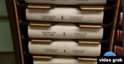 Arsip akte Perkawinan di Pemiscot County, Missouri, AS. (Foto: videograb)