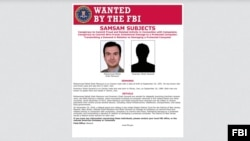 FILE - Mohammad Mehdi Shah Mansouri and Faramarz Shahi Savandi are wanted for allegedly launching SamSam ransomware, which encrypted hundreds of computer networks in the United States and other countries.