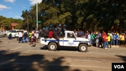 Police are monitoring the million man march in Harare.