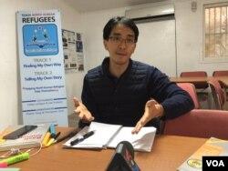 미국 조지타운대학 법대생으로 북한이탈주민 글로벌 교육센터(TNKR)에서 자원봉사자로 영어를 가르치는 권영민 씨.
