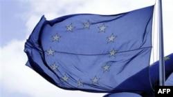 Zastava EU ispred sedišta Evropskog saveta u Briselu