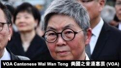香港立法會前法律界議員吳靄儀 (攝影:美國之音湯惠芸)