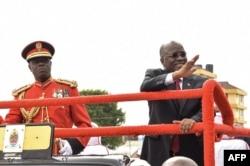 坦桑尼亞總統約翰·馬古富利在2017年