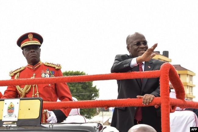 坦桑尼亚总统约翰·马古富利在2017年