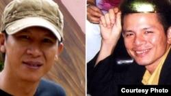 Nhạc sĩ Việt Khang (trái) bị kết án 4 năm tù giam và 2 năm quản chế, nhạc sĩ Trần Vũ Anh Bình, 37 tuổi, bị mức án 6 năm tù giam và 2 năm quản chế