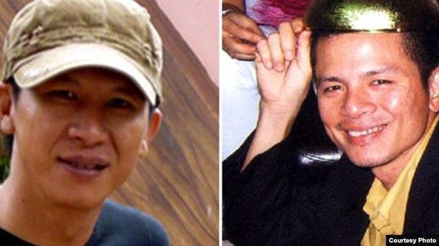 Nhạc sĩ Việt Khang (trái) và Trần Vũ Anh Bình bị tuyên án về tội 'tuyên truyền chống nhà nước'