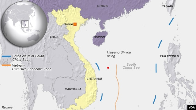China, Vietnam oil rig dispute, near Paracel Islands