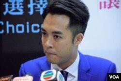 民主思路香港島立法會地區直選候選人黃梓謙。(美國之音湯惠芸攝)