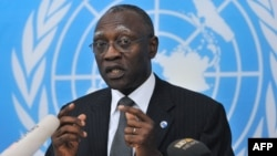 FILE - General Babacar Gaye, the UN secretary-general's representative to the Central African Republic, Feb. 6, 2014.