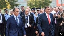 Sergej Lavrov sa predsednikom RS Miloradom Dodikom, 21. septembra 2018.