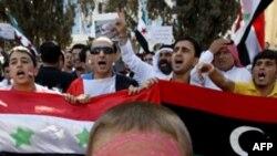 Người Syria ở Jordan biểu tình phản đối Tổng thống al-Assad