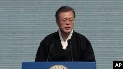 Tổng thống Hàn Quốc Moon Jae-in được cho là 'đặt hết vốn liếng chính trị' vào sự tiếp xúc giữa Mỹ và Triều Tiên