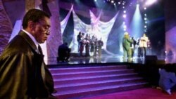 Don Cornelius at a rehearsal for the 2001 Soul Train Music Awards show in Los Angeles