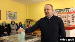 Dragan Đilas, kandidat za gradonačelnika Beograda, glasa na izborima za Skupštinu grada Beograda, 4. marta 2018.