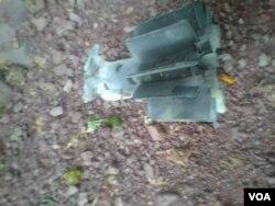 سرحد پار سے گرنے والا ایک مارٹر گولہ