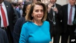 La líder demócrata de la Cámara de Representantes, Nancy Pelosi, de California, confía en la victoria el próximo 3 denero de 2019.