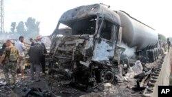 Serangan bom di kota Tartus, Suriah yang diklaim dilakukan oleh kelompok ISIS, Senin (5/9).