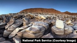 An area called Ice Cream Rocks within Petrified Forest National Park
