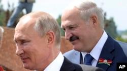 Vladimir Putin və Aleksandr Lukaşenko