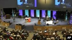 Misa u jednoj evangeličkoj crkvi u SAD