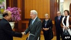 Экс-президент США Джимми Картер в Сеуле