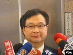 台湾执政党国民党立委纪国栋(美国之音张永泰拍摄)