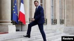 Christophe Castaner arrive à l'Élysée, à Paris, le 18 mai 2017.
