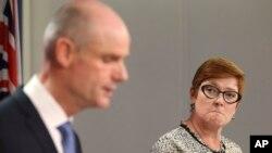 Министр иностранных дел Нидерландов Стеф Блок и министр иностранных дел Австралии Марис Пейн. Сидней, Австралия, 27 марта 2019