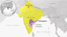 New State Telangana in India