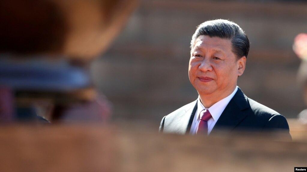 中國國家主席習近平訪問南非時抵達比勒陀利亞的聯合大廈(2018年7月24日)