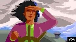 Esta mujer al volante representa a los padres que abandonan el trabajo remunerado para quedarse en casa y enseñar a sus hijos.