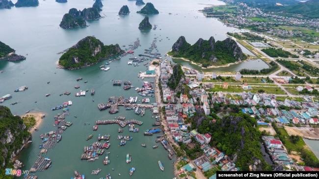 Cảng Cái Rồng, thuộc huyện Vân Đồn, tỉnh Quảng Ninh.