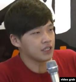 太阳花学运领袖陈为廷 (Youtube网络视频截图)