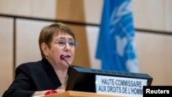 Komisaris Tinggi PBB untuk Hak Asasi Manusia Michelle Bachelet. (Foto: dok).