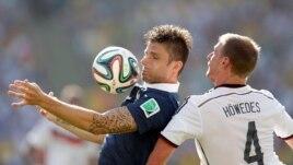Đội tuyển Đức đánh bại đội Pháp ở Rio de Janeiro, ngày 4/7/2014.