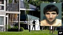 미국 올랜도에서 연방수사국의 테러 혐의 조사 중 칼을 들고 요원을 공격했다가 사살된 이브라힘 토다셰프와 그의 집.
