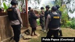 Situasi Papua setelah adanya kasus penembakan. (Foto: Courtesy/Polda Papua)