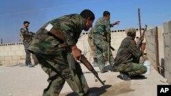 تصویر آرشیوی از نیروهای ارتش سوریه در حماه.