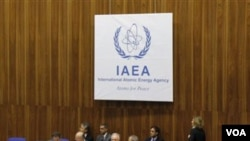 Suasana rapat Badan Energi Atom Internasional (IAEA) di Vienna, Austria (17/11). Iran dan Rusia mengecam sanksi baru negara-negara Barat untuk Proyek Nuklir Iran.