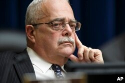 FILE - In a April 10, 2014, photo, Rep. Gerald Connolly. listens during a hearing on Capitol Hill in Washington.
