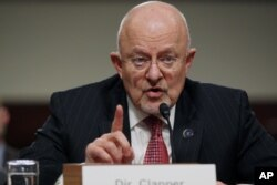 FILE - U.S. intelligence chief James Clapper.