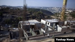 이스라엘 동예루살렘 인근 길로 지역의 유대인 정착촌 건설 현장 (자료사진)