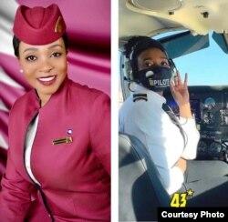 Precious Sibalo was an air hostess before becoming a pilot. (Courtesy Photo: Precious Sibalo)