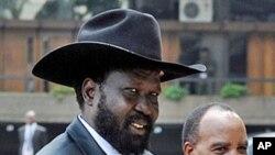 Le président sud-soudanais Salva Kiir à Nairobi (Archives)