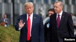 Başkan Trump ve Cumhurbaşkanı Erdoğan bu ay Brüksel'deki NATO zirvesinde bir araya gelmişti.