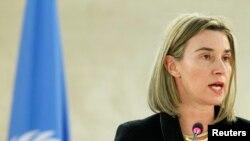 페데리카 모게리니 유럽연합 외교안보 고위대표 (자료 사진)
